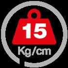 max load 15 [Kg/cm]